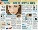 """Tina nr 10 marzec 2008r.""""Rzęsy - piękna oprawa oczu""""wywiad ze mną - szkoleniowcem marki Perfect Silk Lashes."""